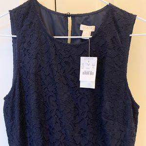 Size 4 NWT Navy Lace JCrew Dress